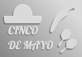 Éléments gratuits pour le vecteur Cinco De Mayo