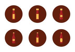 Icône gratuite de bouteille de sauce chaude vecteur