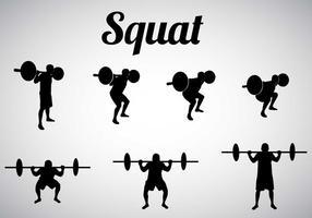 Vecteur libre de silhouettes squat