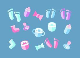 Vecteur gratuit des éléments de bébé déco