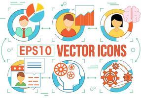 Utilisateurs gratuits et autres icônes vectorielles vecteur