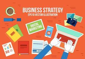 Stratégie de commerce gratuit pour les entreprises vecteur