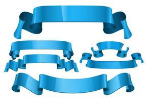 Vecteurs de ruban de voile réalistes gratuits vecteur