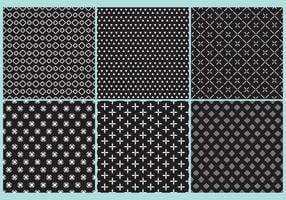 Vecteurs de motifs en noir et blanc