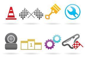 Logos Pitstop Et Voiture vecteur