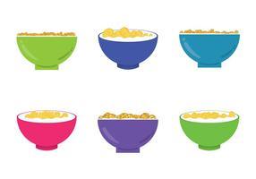 Illustrations gratuites de flocons de maïs vecteur