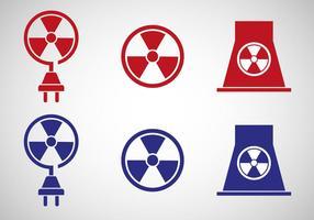 Vecteur libre d'icône d'énergie nucléaire