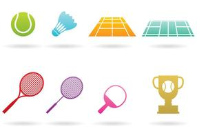 Logos de badminton vecteur
