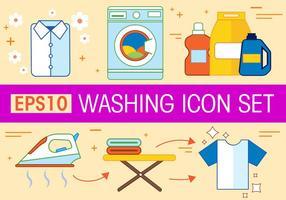 Ensemble d'icônes vecteur de lavage gratuit