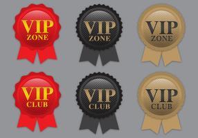 Vecteurs de ruban VIP
