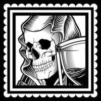 crâne portant un voile