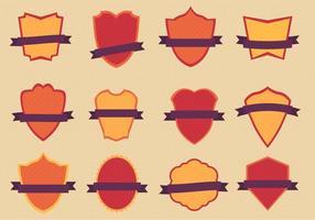 Ensemble de badges plats vectoriels gratuits