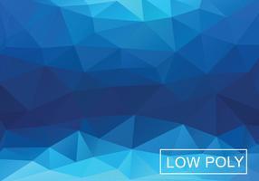 Fond géométrique triangulaire bleu vecteur
