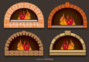 Fours à pizza vectorielle vecteur