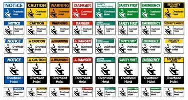 signes de symbole de levage aérien