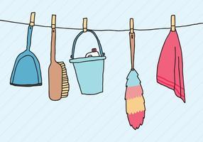 Préparation du nettoyage de printemps