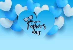 forme de coeur dégradé de la fête des pères sur les coeurs 3d