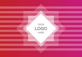 Fond de vecteur logo dégradé rose gratuit