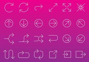 Vecteurs d'icône de flèche de ligne