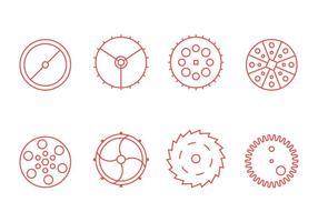 Illustration libre de pièces d'horloge graphique 3 vecteur