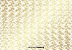 Motif d'or vectoriel sur fond blanc