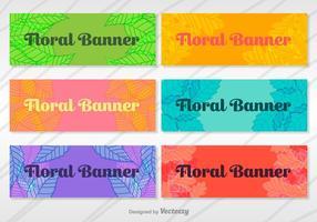 Ensemble vectoriel de bannières florales