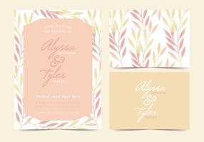 Boho plant vector invitation