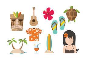 Vecteurs libres de hawaï
