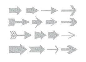 Flèches Sketchy Vectorisées Assorties vecteur
