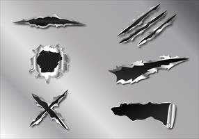 Vecteur de déchirure de métal libre