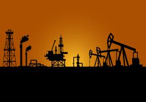 Vecteur de champ pétrolier gratuit