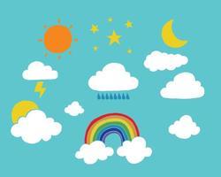 Vecteurs météo et ciel vecteur