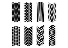 Pack de vecteur de marques de pneu