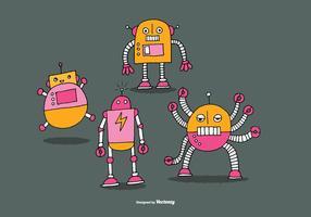 Vecteurs de robot mignons vecteur