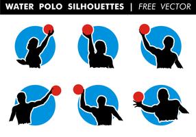Water polo silhouettes vecteur gratuit