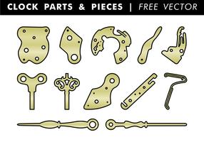 Pièces et pièces d'horloge Free Vector