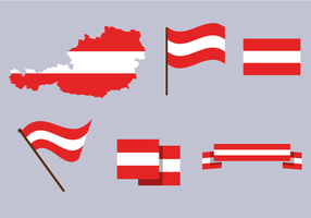 Vecteur de carte libre d'Autriche