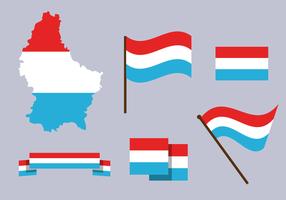 Vecteur de carte luxembourg gratuit