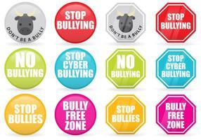 Arrêtez les signes vectoriels d'intimidation
