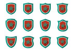 Vecteurs gratuits de Maroc Shield vecteur