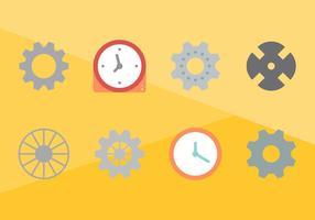 Pièce d'horloge gratuite graphique vectoriel 2