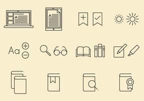 Icônes E Reader