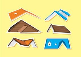 Vecteur divers sur les toits