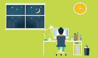 espace de travail dans le bureau à domicile