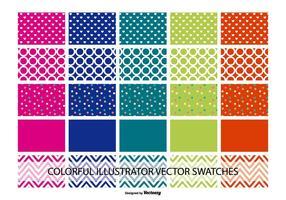 Échantillonneurs variés de couleurs et de modèles Illustrator