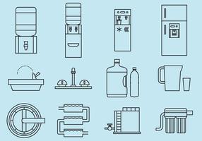 Icônes de l'eau potable vecteur