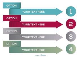 Flux de texte d'information Bullet Point Vectors