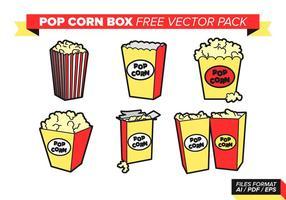 Boite de maïs pop livre pack de vecteur gratuit