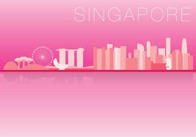 Horizon de Singapour vecteur