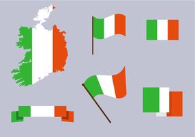 Vecteur gratuit de la carte de l'Irlande